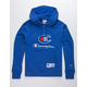 CHAMPION Century Collection C100 Chenille Logo Surf The Web Mens Hoodie