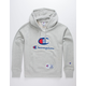 CHAMPION Century Collection C100 Chenille Logo Oxford Gray Mens Hoodie