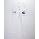 CHAMPION Century Collection C100 Chenille Logo White Mens Jogger Pants