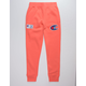 CHAMPION Century Collection C100 Chenille Logo Groovy Papaya Mens Jogger Pants