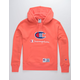 CHAMPION Century Collection C100 Chenille Logo Groovy Papaya Mens Hoodie