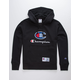 CHAMPION Century Collection C100 Chenille Logo Black Mens Hoodie