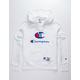 CHAMPION Century Collection C100 Chenille Logo White Mens Hoodie