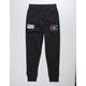 CHAMPION Century Collection C100 Chenille Logo Black Mens Jogger Pants