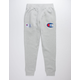 CHAMPION Century Collection C100 Chenille Logo Oxford Gray Mens Jogger Pants