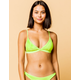 FULL TILT Fixed Triangle Neon Green Bikini Top