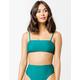 FULL TILT Solid Bandeau Emerald Bikini Top