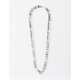 BLUE CROWN Figaro Chain Silver Necklace