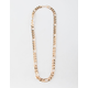 BLUE CROWN Figaro Chain Gold Necklace