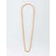 BLUE CROWN Rope Chain Gold Necklace