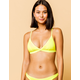 FULL TILT Fixed Triangle Neon Yellow Bikini Top