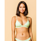 FULL TILT Fixed Triangle Lime Bikini Top