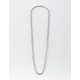 BLUE CROWN Rope Chain Silver Necklace