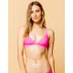 FULL TILT Fixed Triangle Neon Hot Pink Bikini Top