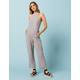WEST OF MELROSE On Key Gray Womens Jumpsuit