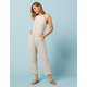WEST OF MELROSE On Key Tan Womens Jumpsuit