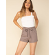 WEST OF MELROSE High Noon Womens Paperbag Waist Shorts