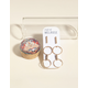 WEST OF MELROSE 3 Pairs Circle & Bar Stud Earrings
