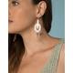 WEST OF MELROSE Clear Dangle Earrings