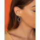 WEST OF MELROSE Round & Marble Dangle Earrings