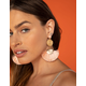 WEST OF MELROSE Circle & Fringe Straw Earrings