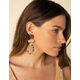 WEST OF MELROSE Marble Circle Drop Earrings