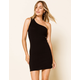 WEST OF MELROSE One Shoulder Ribbed Bodycon Womens Dress