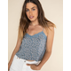 WEST OF MELROSE Once & Floral Lace Trim Womens Cami