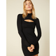 WEST OF MELROSE Cut To The Chase Ribbed Bodycon Dress
