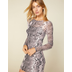 WEST OF MELROSE Snake Up Your Mind Mesh Bodycon Dress