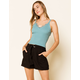 WEST OF MELROSE Ring It On Womens Belted Shorts