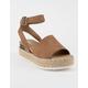 SODA Topic Tan Womens Espadrille Flatform Sandals