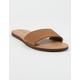 VOLCOM Simple Slide Tan Womens Sandals