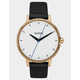 NIXON Kensington Leather Gold & Bar Watch