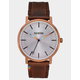 NIXON Porter Leather Copper & Brown Watch