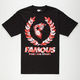 FAMOUS STARS & STRAPS Fambiscus Wreath Mens T-Shirt
