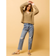 AMUSE SOCIETY Selena Worn Wash Womens Ripped Crop Jeans