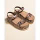 DIRTY LAUNDRY Palms Snake Womens Flatform Sandals