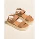 STEVE MADDEN Catia Natural Womens Espadrille Flatform Sandals