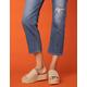 COCONUTS Del Mar Natural Womens Espadrille Flatform Sandals