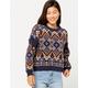 WOVEN HEART Chenille Womens Sweater