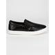 SODA Reign Crocodile Black Womens Slip-On Shoes