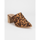 BEAST FASHION Stephanie Leopard Womens Heeled Mules