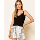 WEST OF MELROSE In Your Lace Black Womens Cami