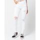 SNEAK PEEK Ripped White Womens Skinny Jeans