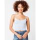FULL TILT Stripe Seamless Periwinkle Womens Crop Cami
