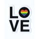 STICKIE BANDITS Love Heart Sticker
