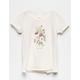 WHITE FAWN Wild Flower Lettuce Edge Girls Tee