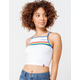DICKIES Rainbow Striped High Neck Crop Tank Top
