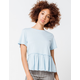 JOLIE Peplum Light Blue Womens Tee